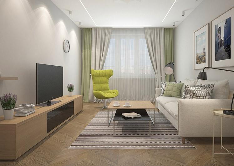 Дизайн гостиной 12 кв