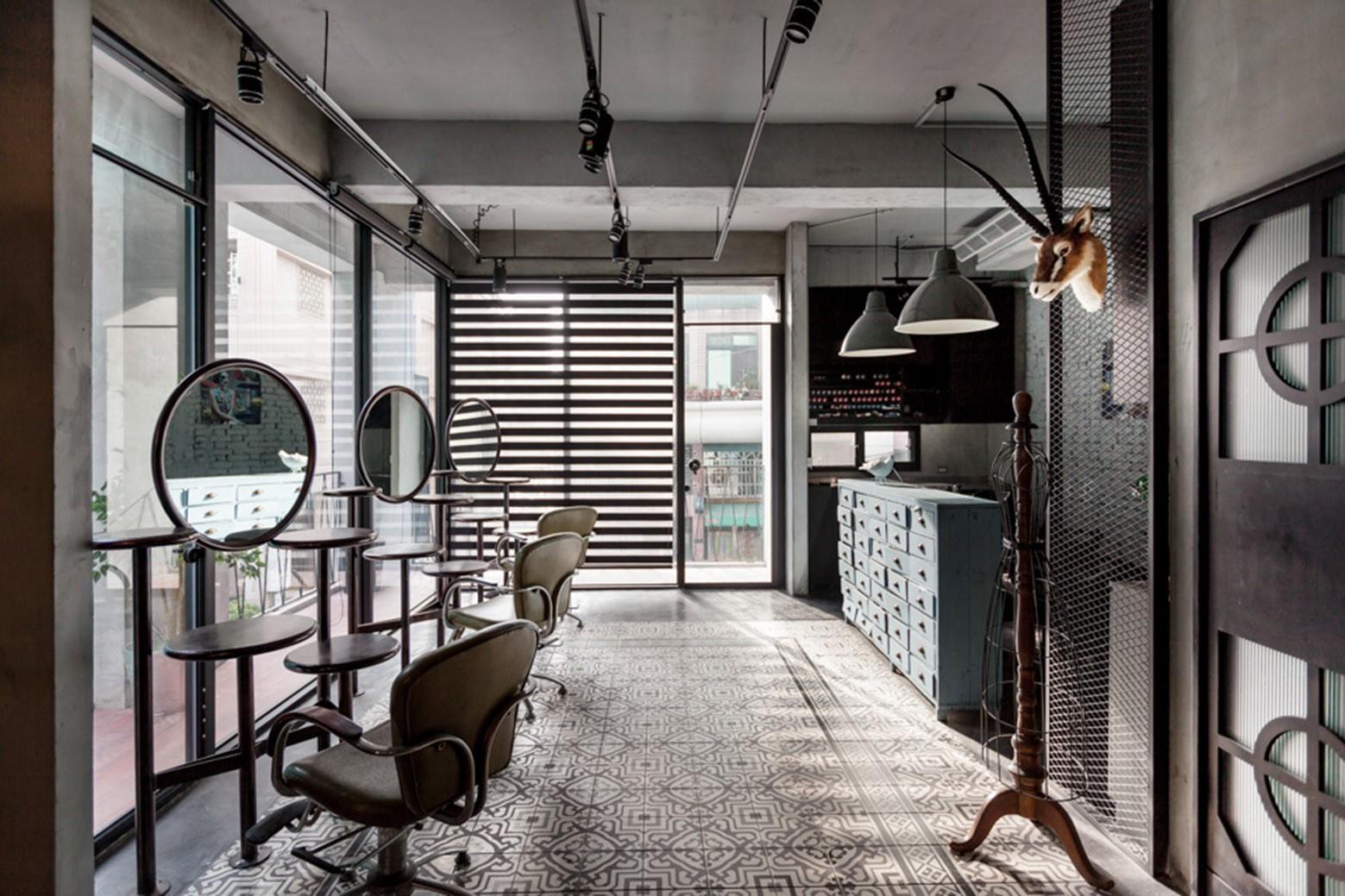 Дизайн салона красоты в стиле лофт