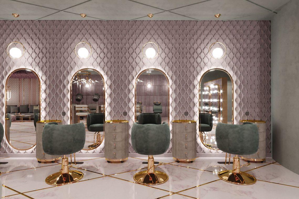 Роскошный дизайн салона красоты