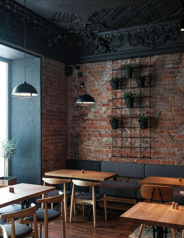 Дизайн интерьера лофт для кафе