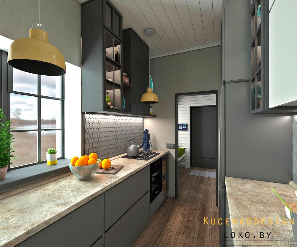 динтерьер частного дома кухни