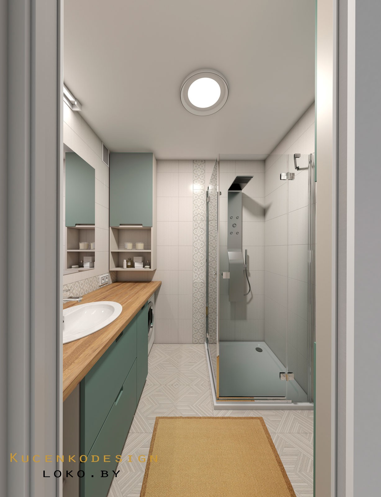 интерьер квартира ванная