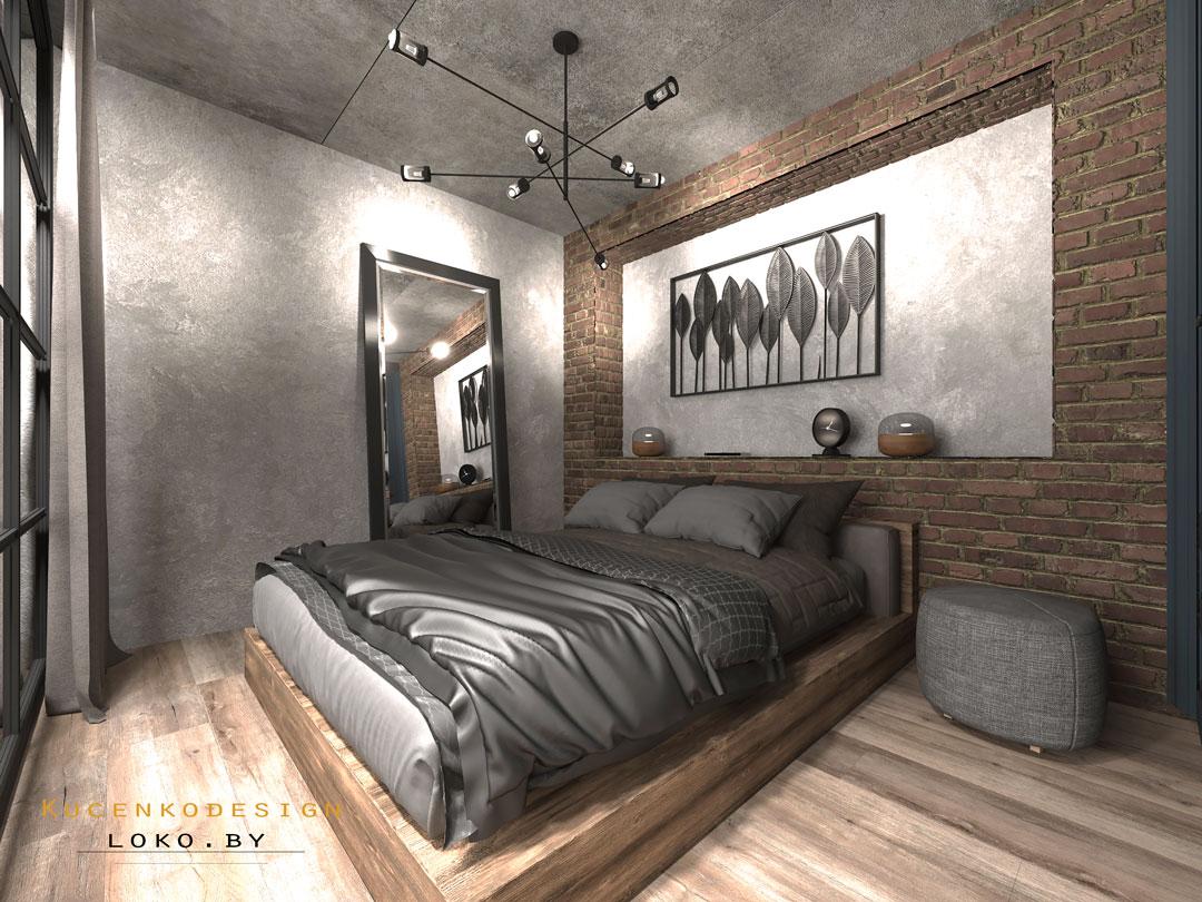 дизайн спальни квартиры студии