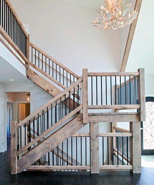 лестница +в интерьере деревянного дома