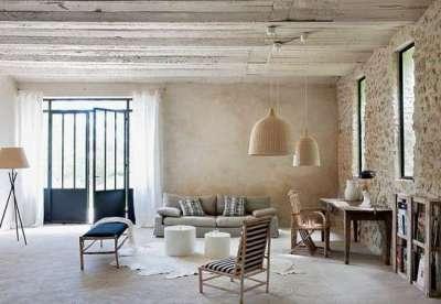 деревянный потолок в дизайне интерьера