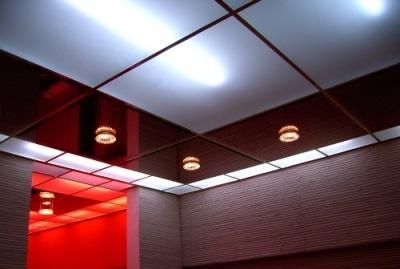 кассетный потолок в интерьере