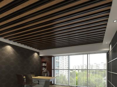 дизайн комнаты с реечным потолком